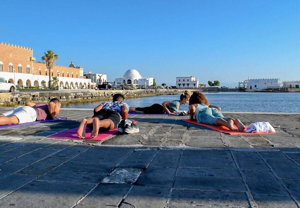 sunrise yoga elli view