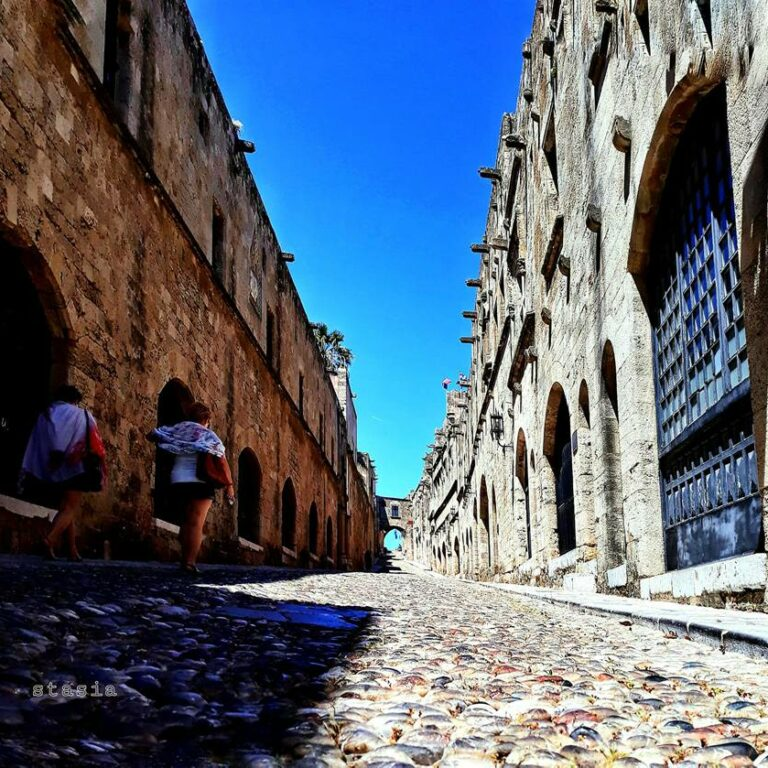 knight street, medieval town rhodes