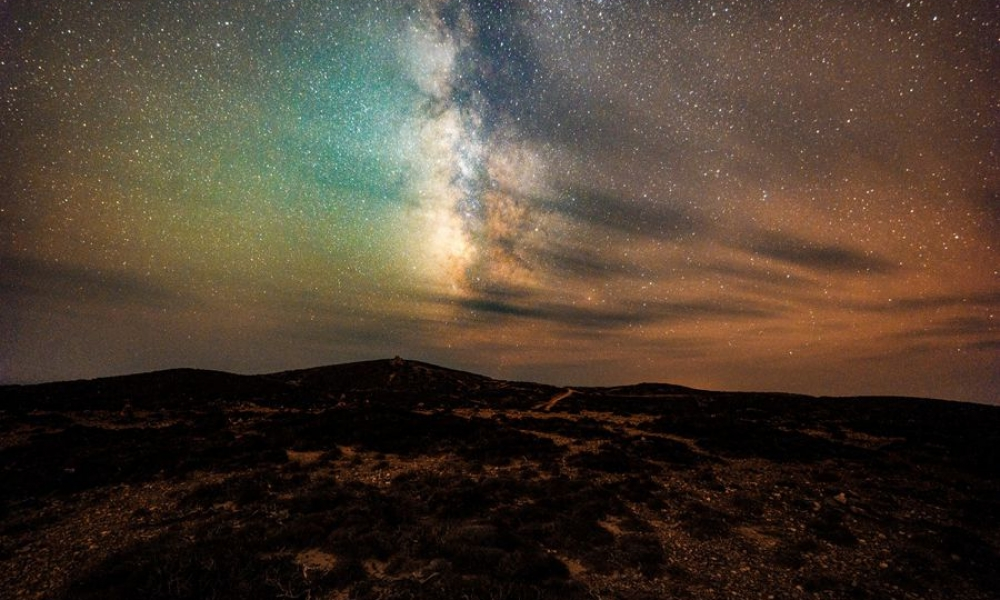night sky rhodes galaxy